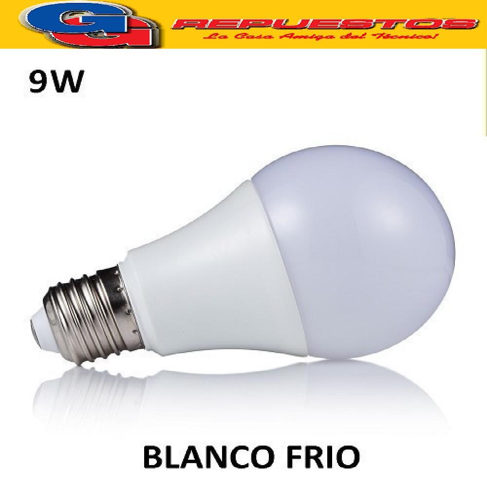 LAMPARA LED E27 9W=60W  BLANCO FRIO -KIAR-6500K
