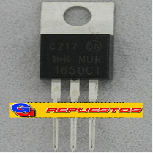 MUR1650 8A 500V DIODO DOBLE ULTRARAPIDO