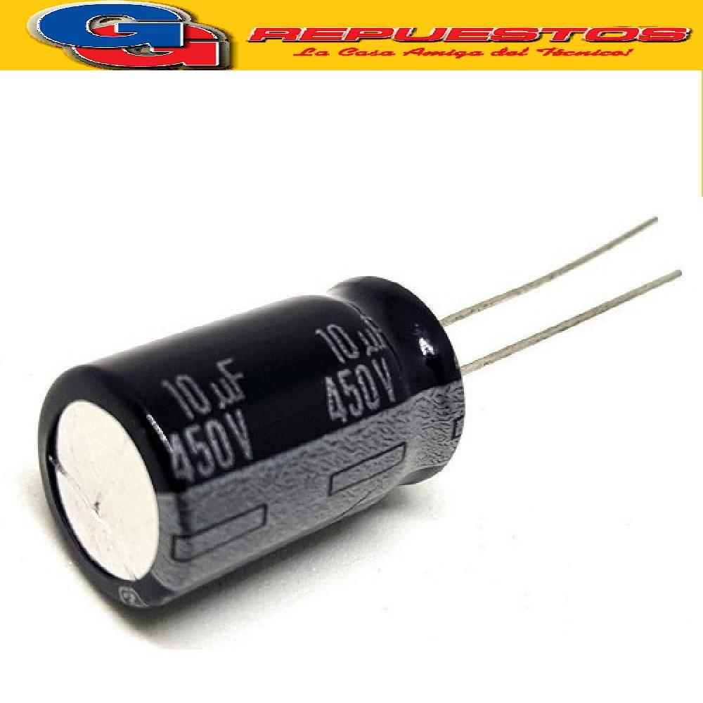 CAPACITOR ELECTROLITICO 10UFX450V RADIAL