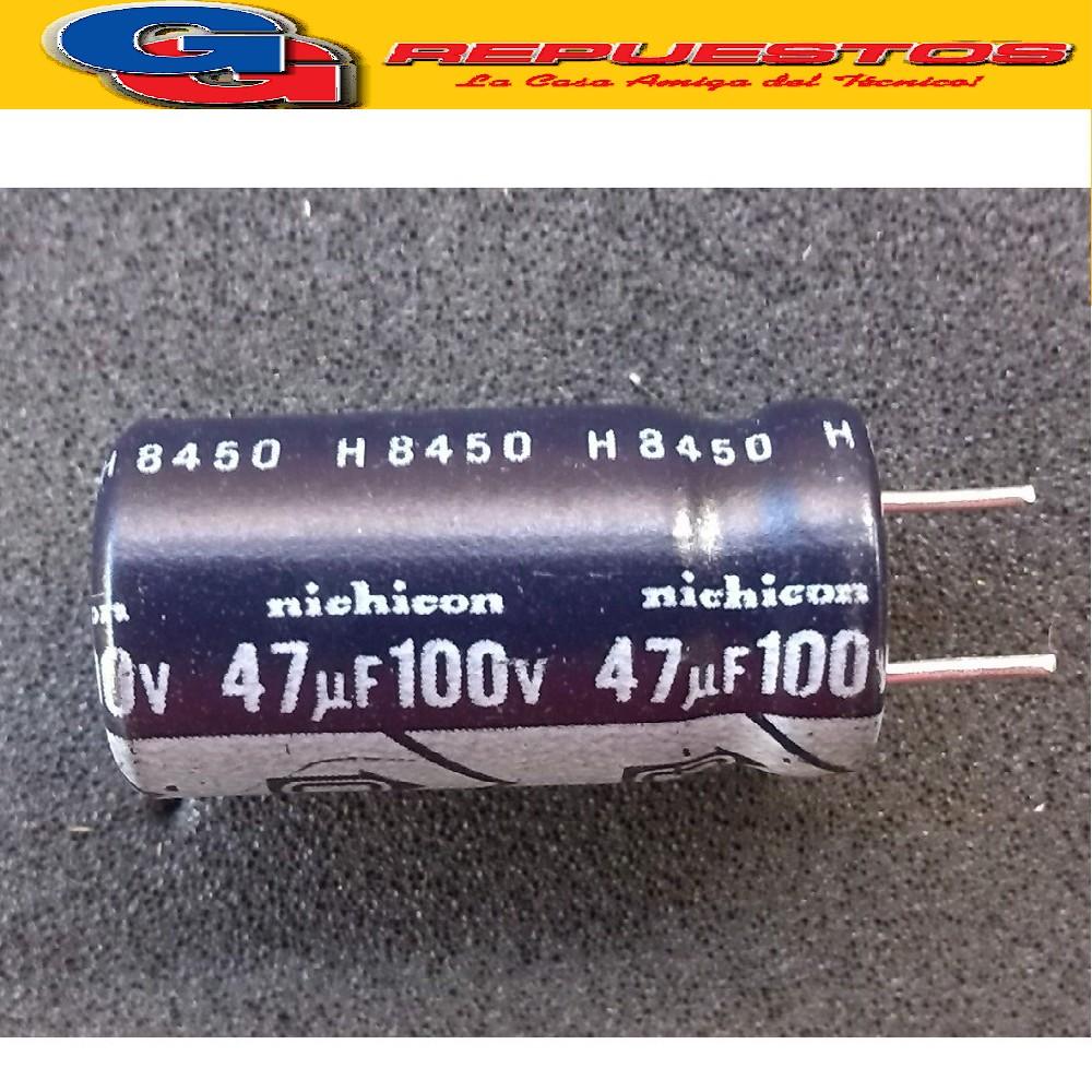 CAPACITOR ELECTROLITICO 47uFX100V RADIAL (10 x 16mm)